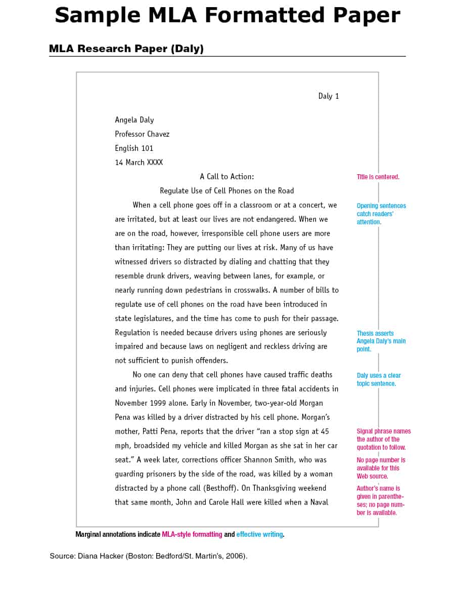 019 Research Paper Mla Format Cover Page Template Singular Style Title Example With Full