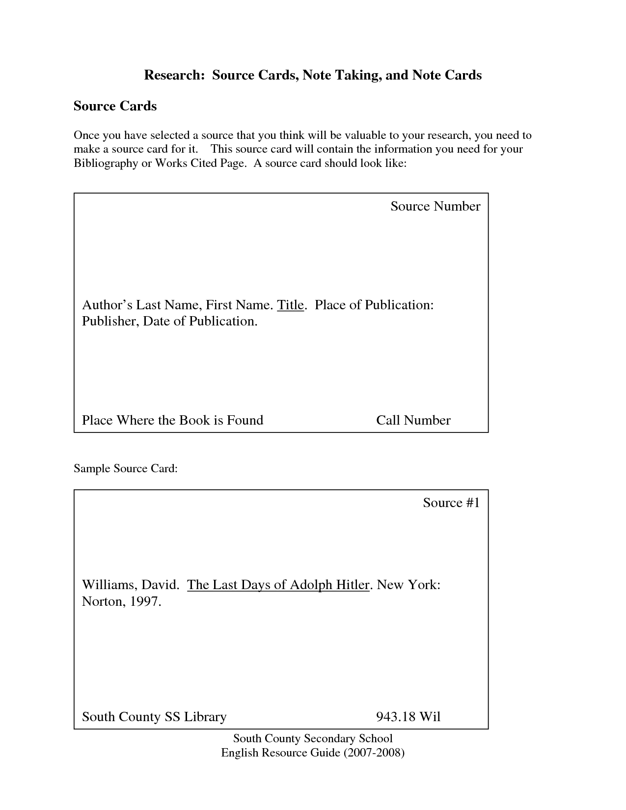 019 Research Paper Note Cards Card Templates 442160 Stupendous Mla Format Examples Full