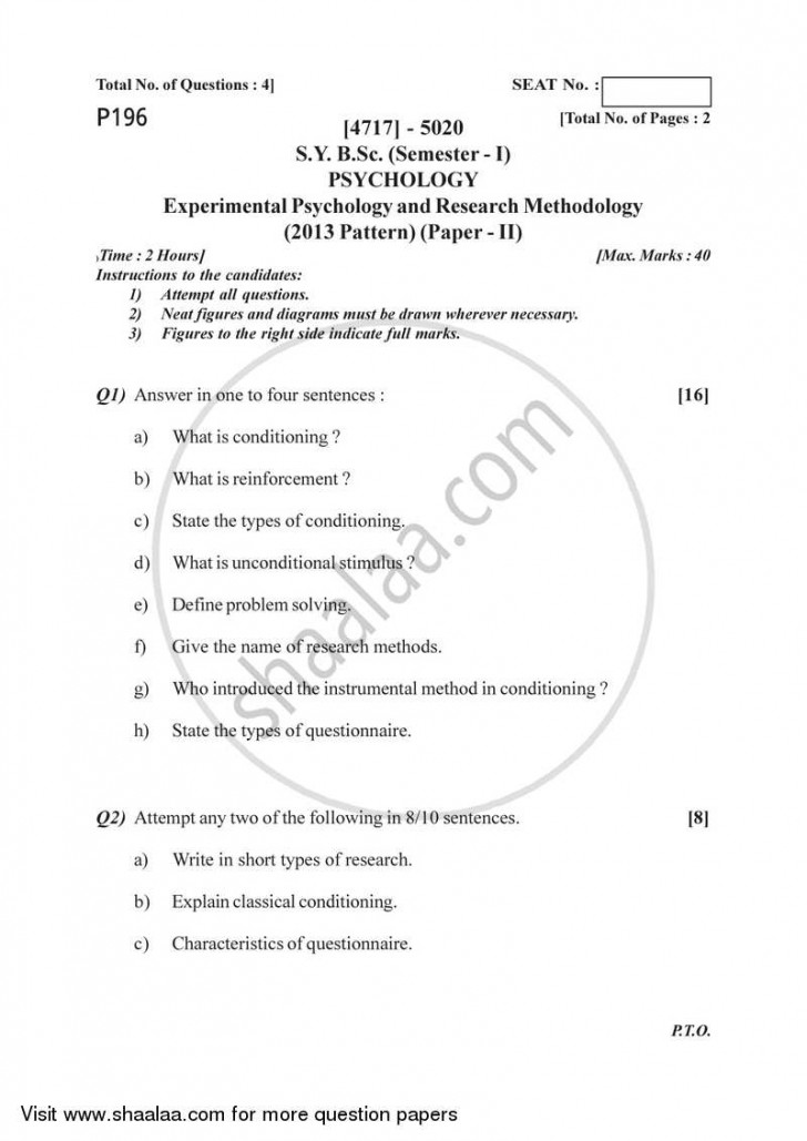 019 Research Paper On Psychology University Of Pune Bachelor Bsc Experimental Methodology Semester Sybsc Pattern 2e41c64dd7a97493da58d01b3ff66032b Wonderful Free Forensic Example Developmental Sample 728