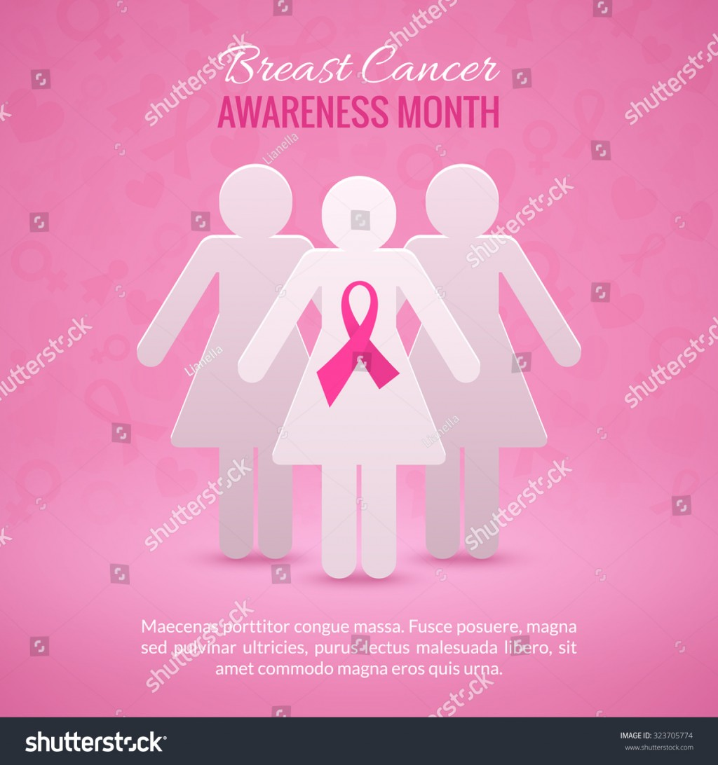 019 Research Paper Stock Vector Breast Cancer October Awareness Month Campaign Background With Girl Silhouettes And Pink Phenomenal Example Large