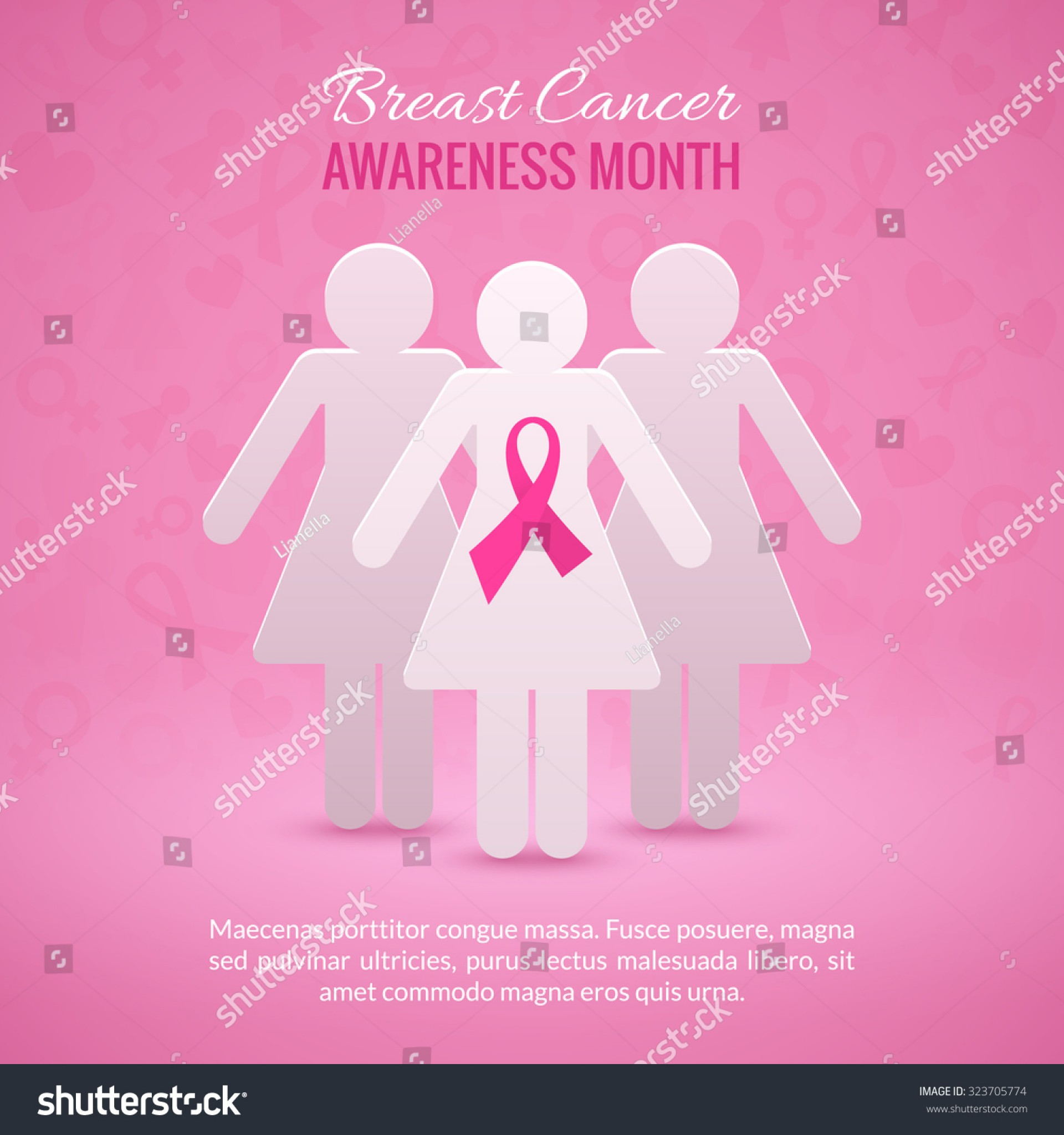 019 Research Paper Stock Vector Breast Cancer October Awareness Month Campaign Background With Girl Silhouettes And Pink Phenomenal Example 1920