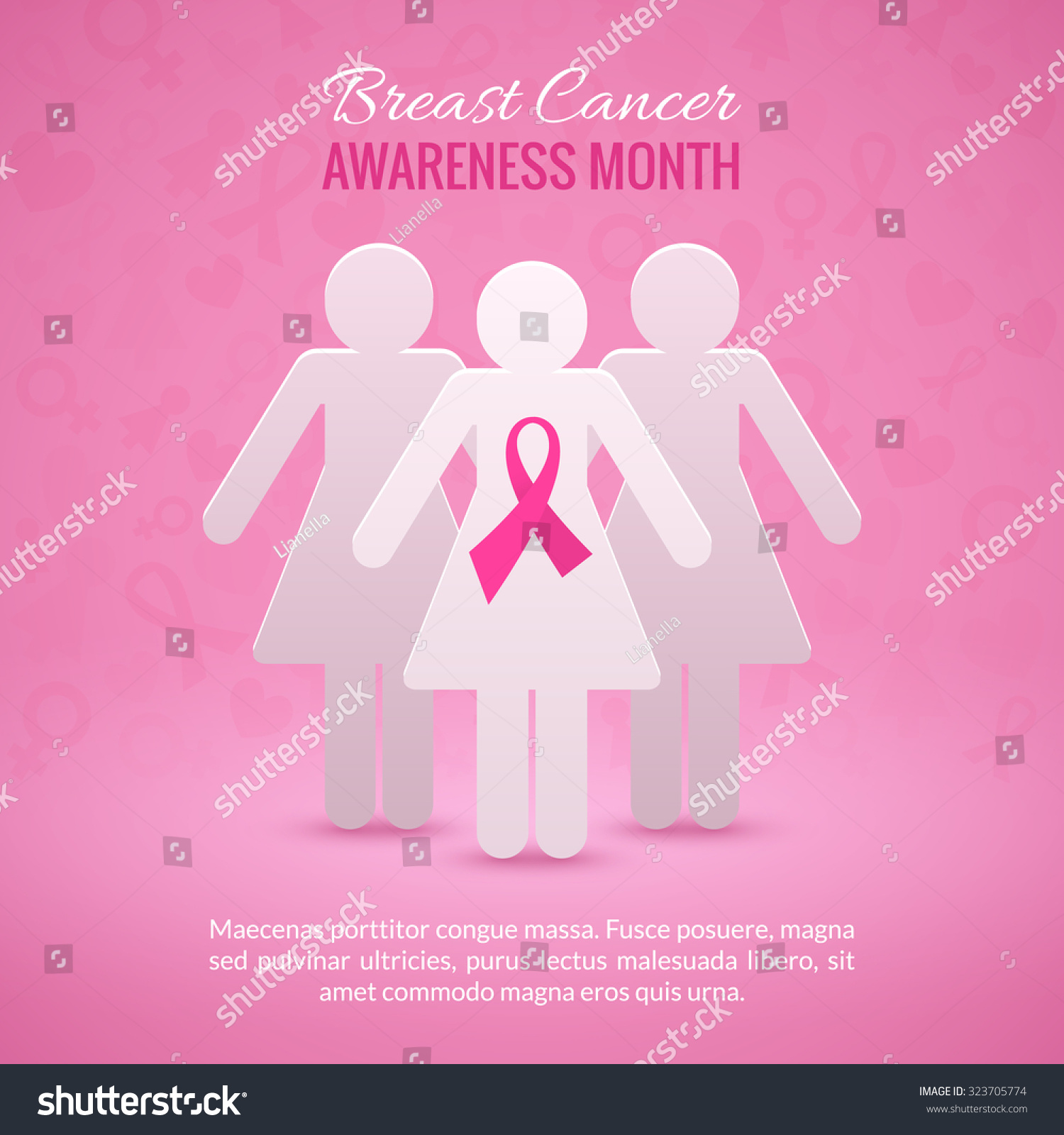 019 Research Paper Stock Vector Breast Cancer October Awareness Month Campaign Background With Girl Silhouettes And Pink Phenomenal Example Full