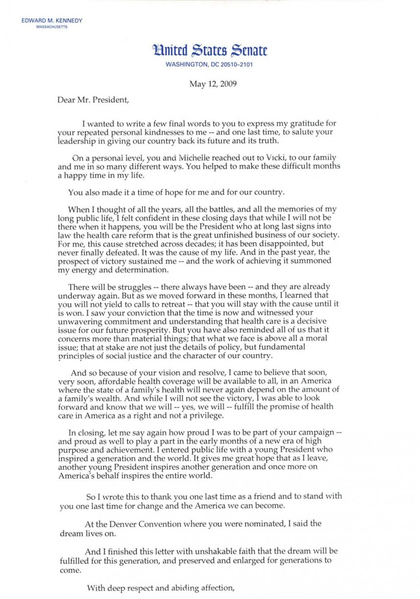 019 Research Paper Ted Kennedy Healthcare Letter Argumentative Stunning Topics