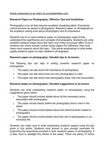 research paper tips reddit