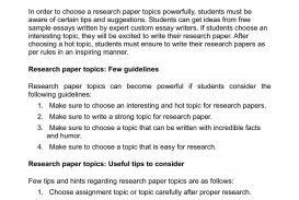 019 Research Paper Topics For Awful Chemistry High School Good In College International Law 320