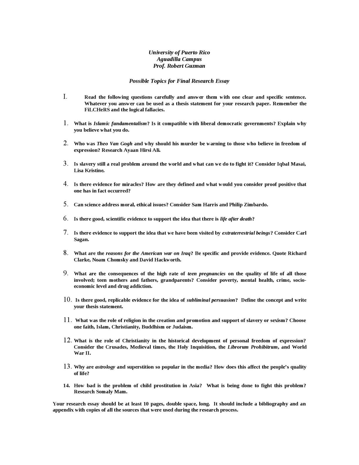 019 Research Paper Topics For English Magnificent Humanities Class Language Composition Full