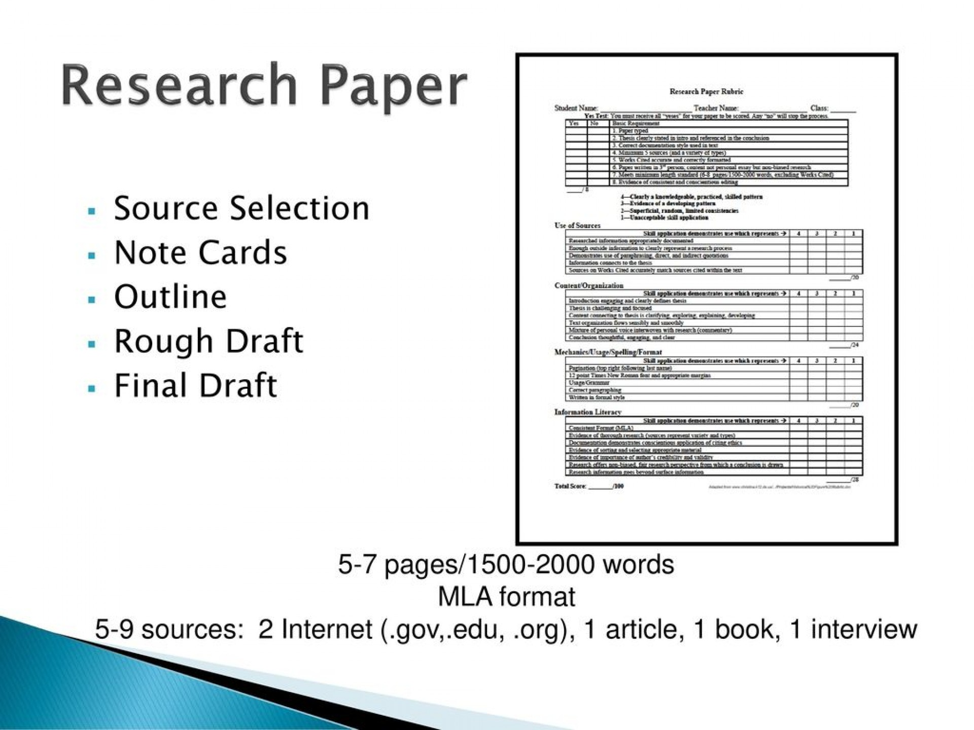 019 Researchpapersourceselectionnotecardsoutlineroughdraft Research Paper Note Cards Template Astounding For Example Of Notecards 1920
