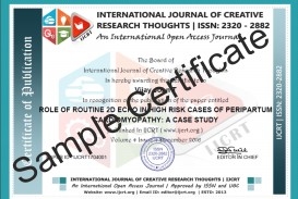 019 Sample Certificate Research Paper Free Online Submission Of Marvelous Papers