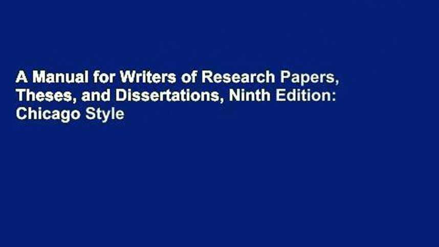 019 X1080 V4x Manual For Writers Of Researchs Theses And Dissertations 9th Edition Frightening A Research Papers Pdf