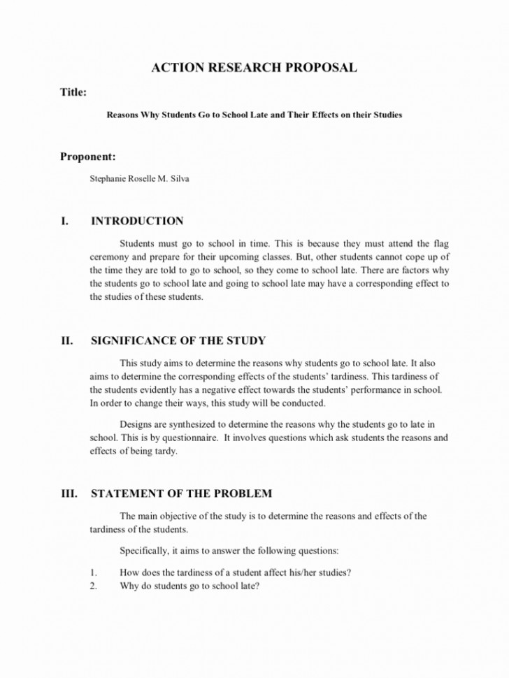 020 Action Research Proposal Template Or And Paper An Example Of Apa Stupendous Style A Guide For Writing Papers Full 728