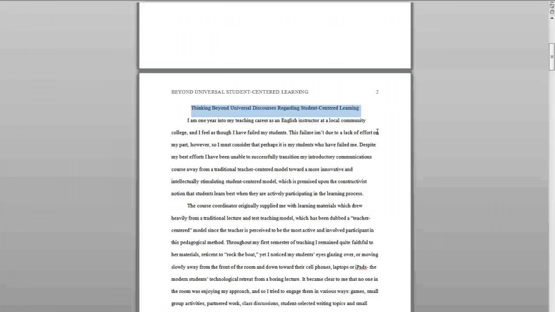 020 Apa Research Paper Style Surprising Outline Template Example Reference Page 1920