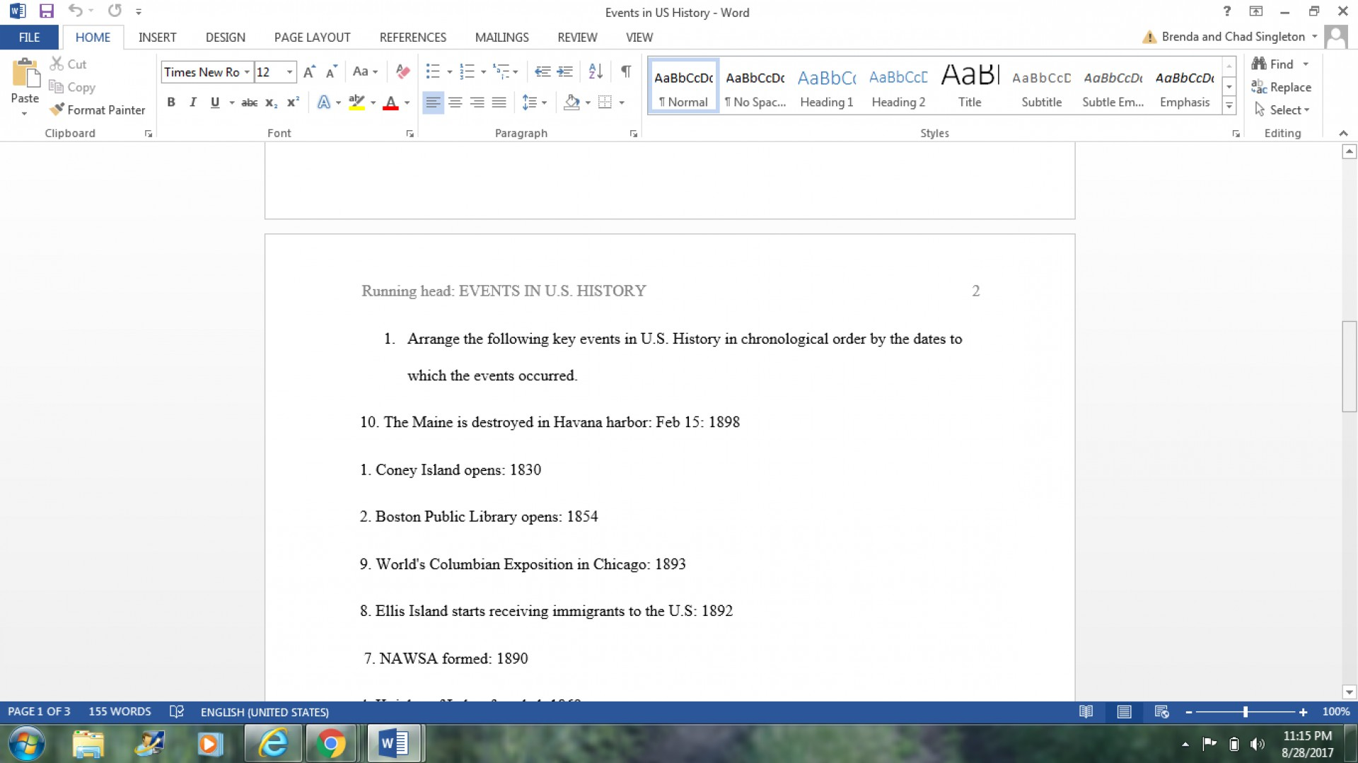 020 Chronological Order Of Research Awesome A Paper 1920