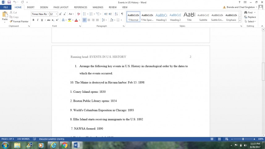 020 Chronological Order Of Research Awesome A Paper