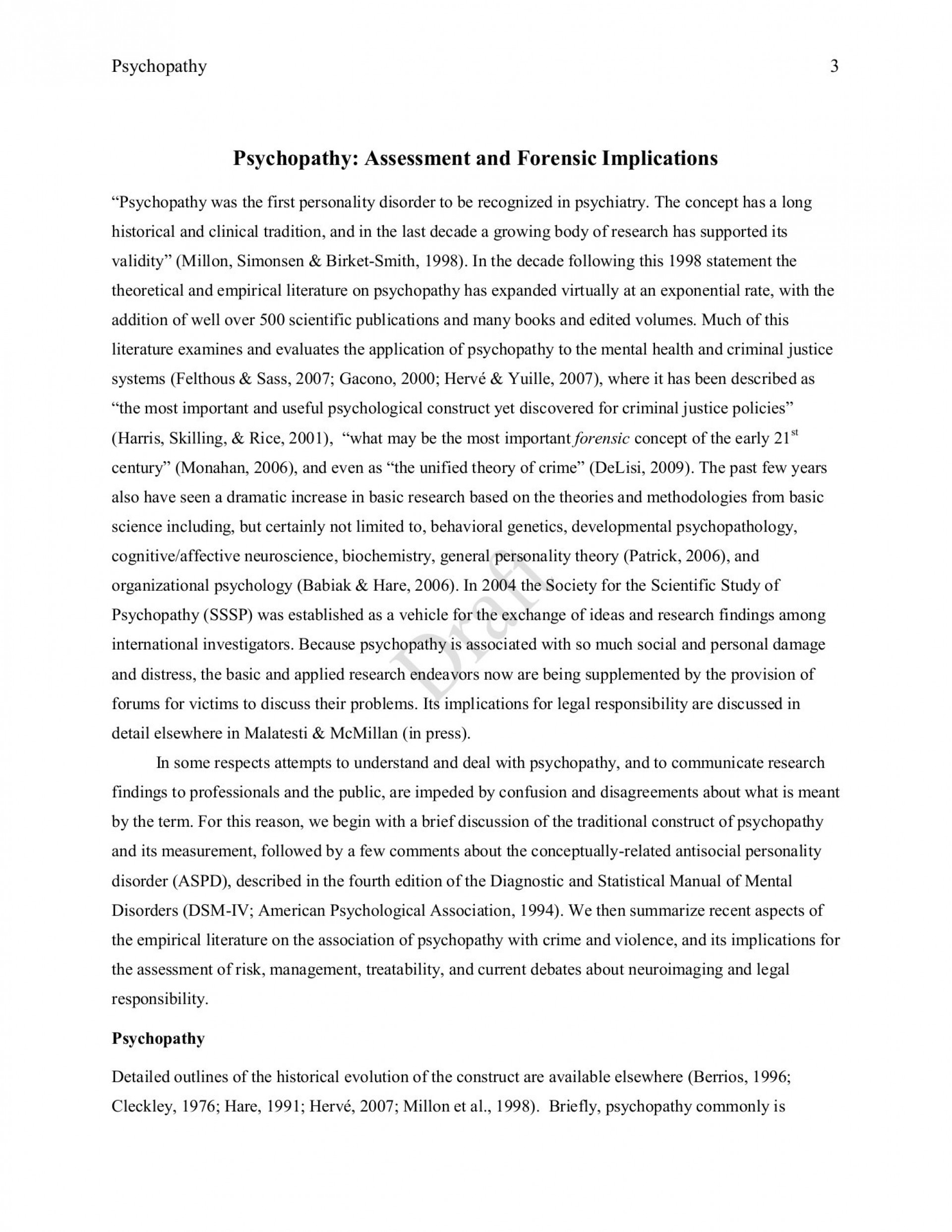 020 Criminal Justice Research Papers Free Antisocial Personality Disorder Paper Outline Unforgettable 1920