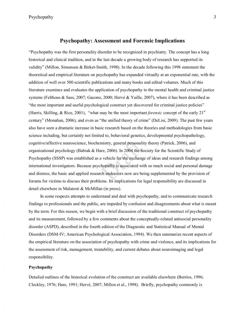 020 Criminal Justice Research Papers Free Antisocial Personality Disorder Paper Outline Unforgettable