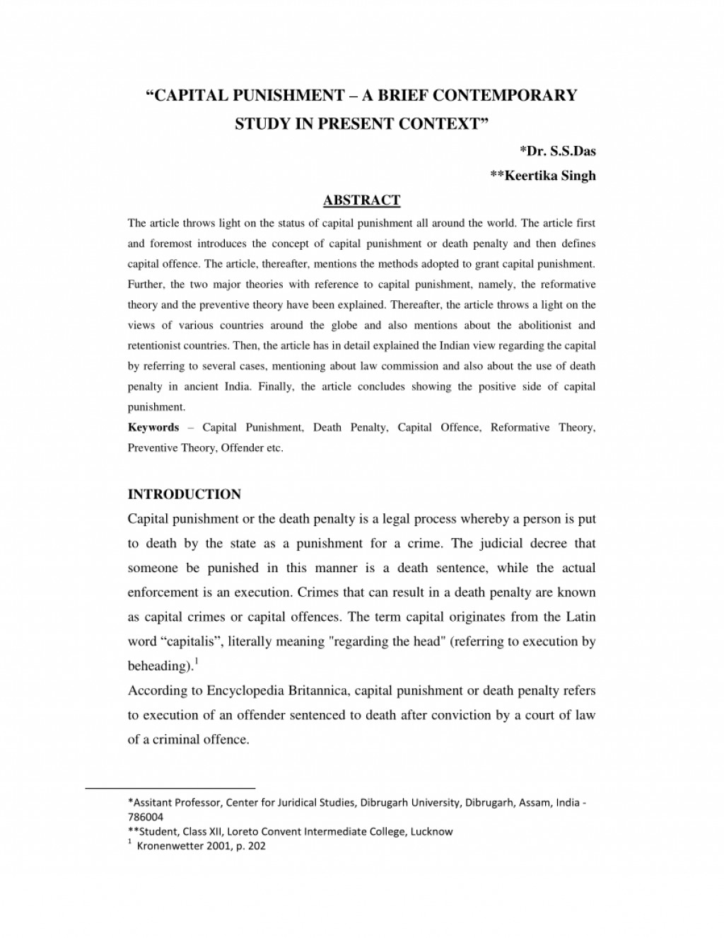 020 Death Penalty Research Paper Introduction Awesome Large