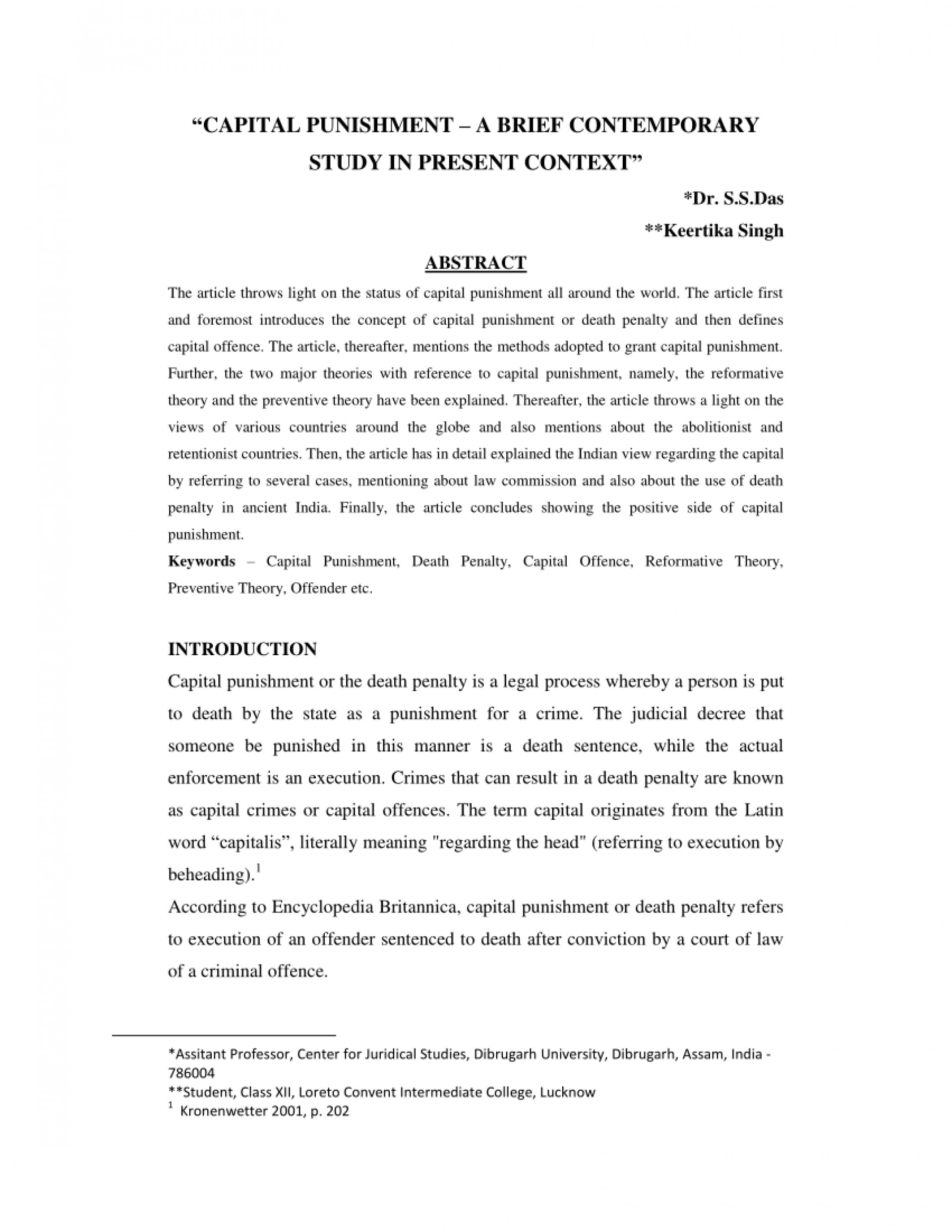 020 Death Penalty Research Paper Introduction Awesome 1920
