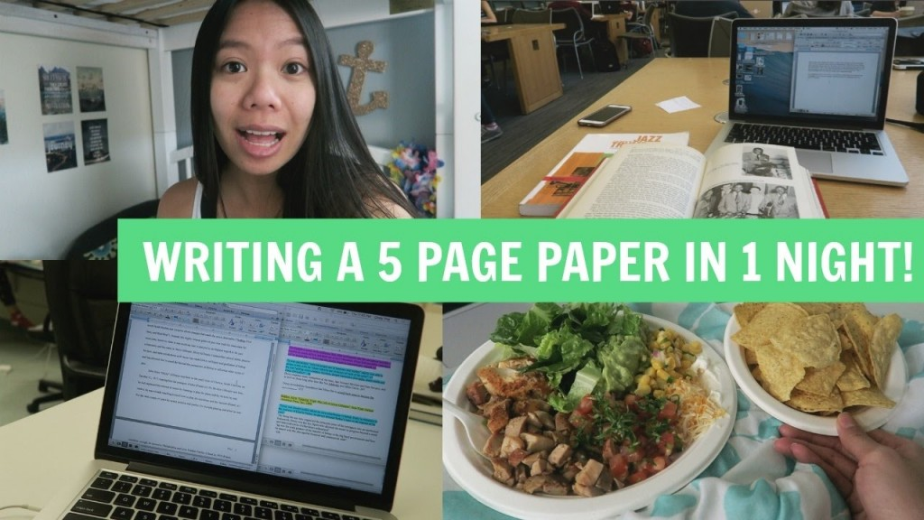 020 How To Write Page Research Paper In One Night Phenomenal A 10 Large