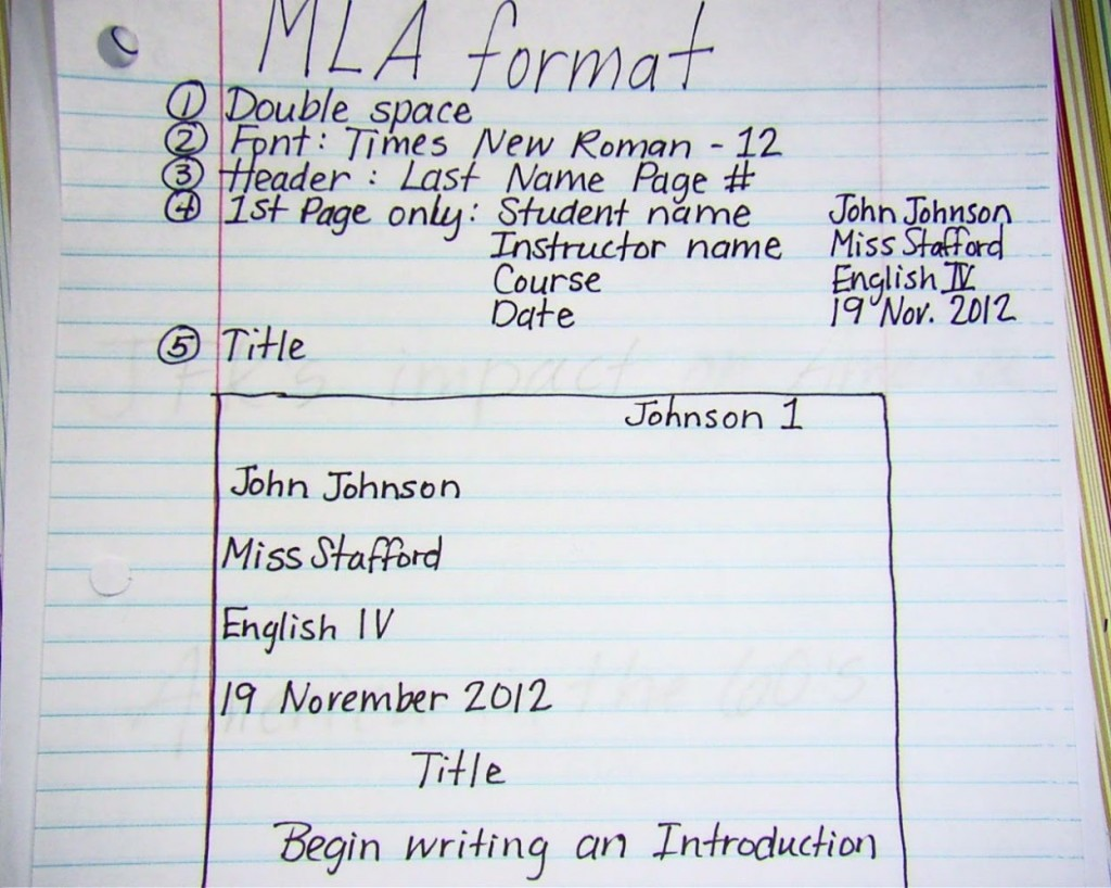 020 Mla2bnotes How To Write Research Paper Introduction Fascinating A Mla An For Large