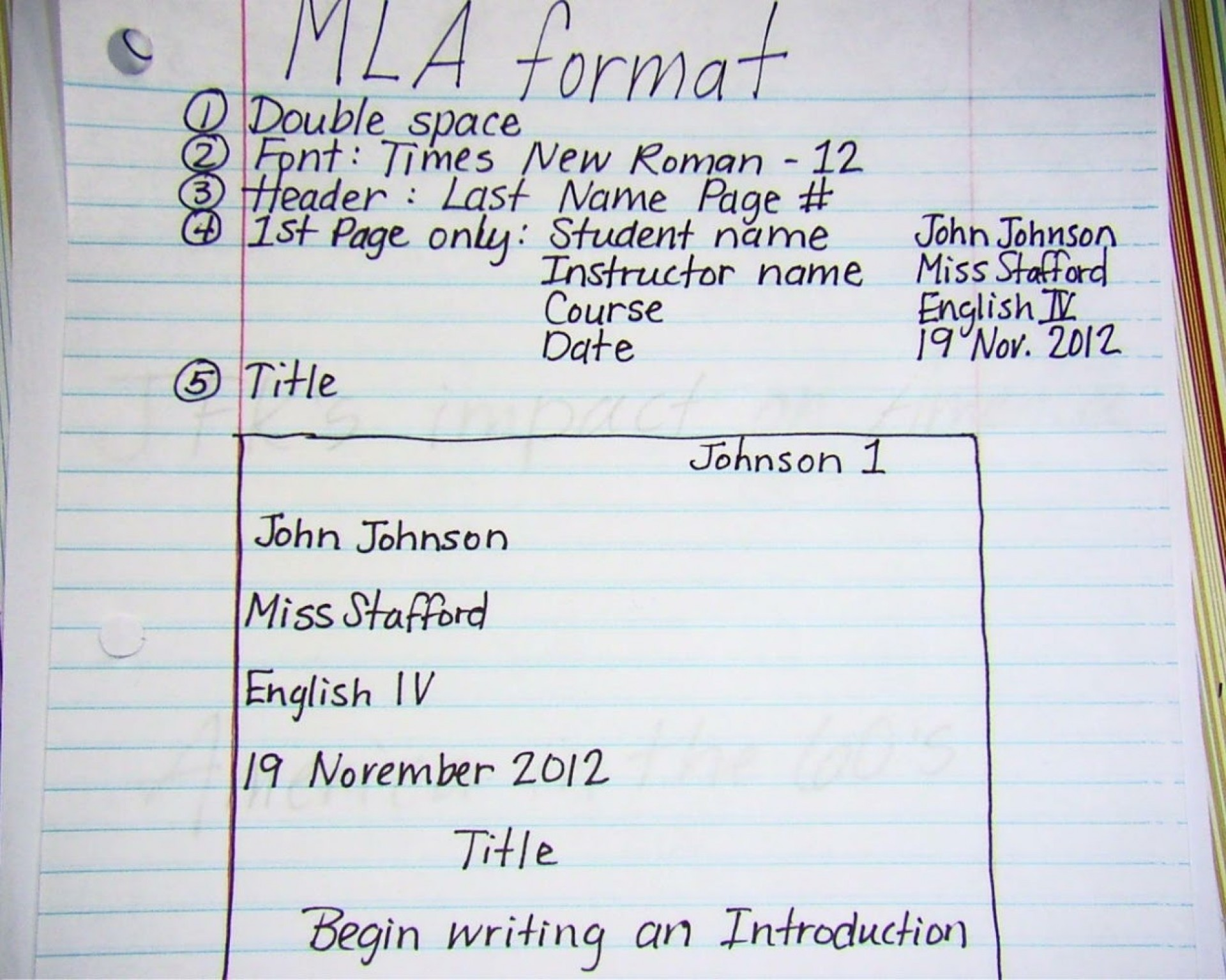 020 Mla2bnotes How To Write Research Paper Introduction Fascinating A Mla An For 1920