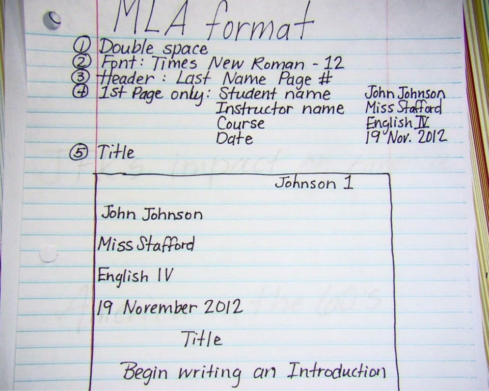 020 Mla2bnotes How To Write Research Paper Introduction Fascinating A Mla An For 960