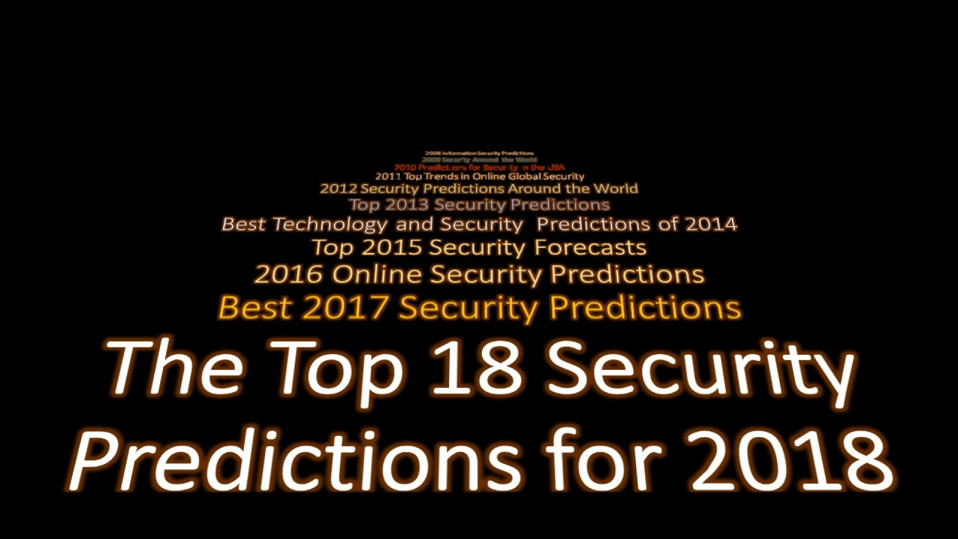 020 Predictions 2018 Cover  5 Research Paper Cyber Security Unique Ideas1920