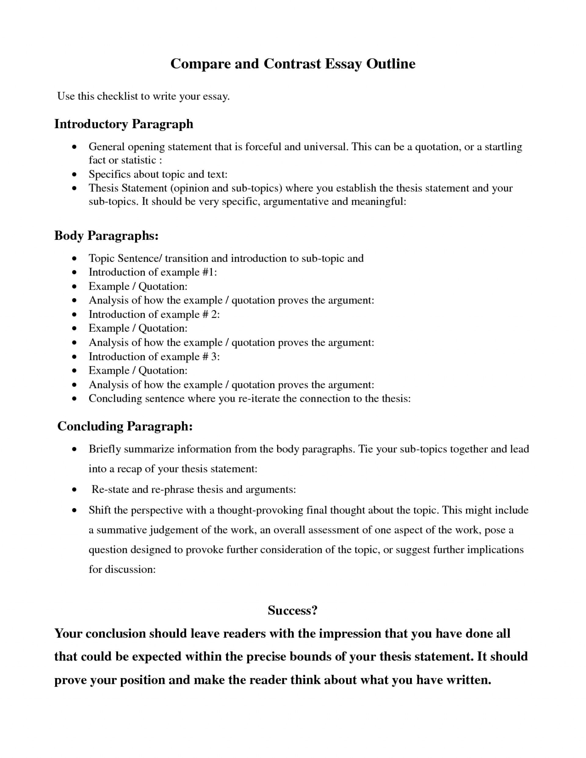 020 Research Paper Example Of An Outline For Literary Splendi Thesis Statement Examples Comparison Essay Compare And Contrast Samples Striking A 1920