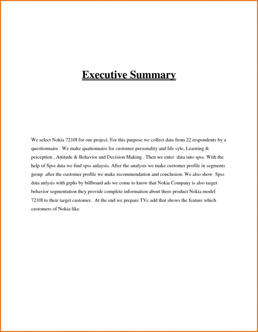 020 Research Paper Executive Summary Example Format Unforgettable
