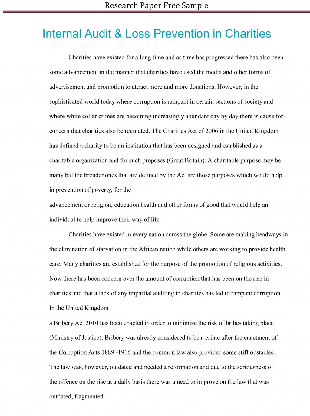 020 Research Paper First Page Of Rare A Mla Style For The Large