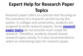 020 Research Paper Page 1 Papers Phenomenal Topics For High School Students In Management 320