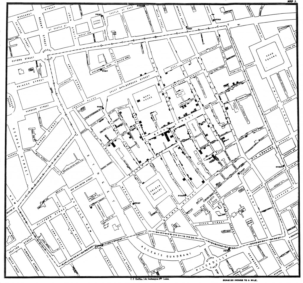 020 Research Paper Snow Cholera Map Economic Geography Wondrous Topics Large