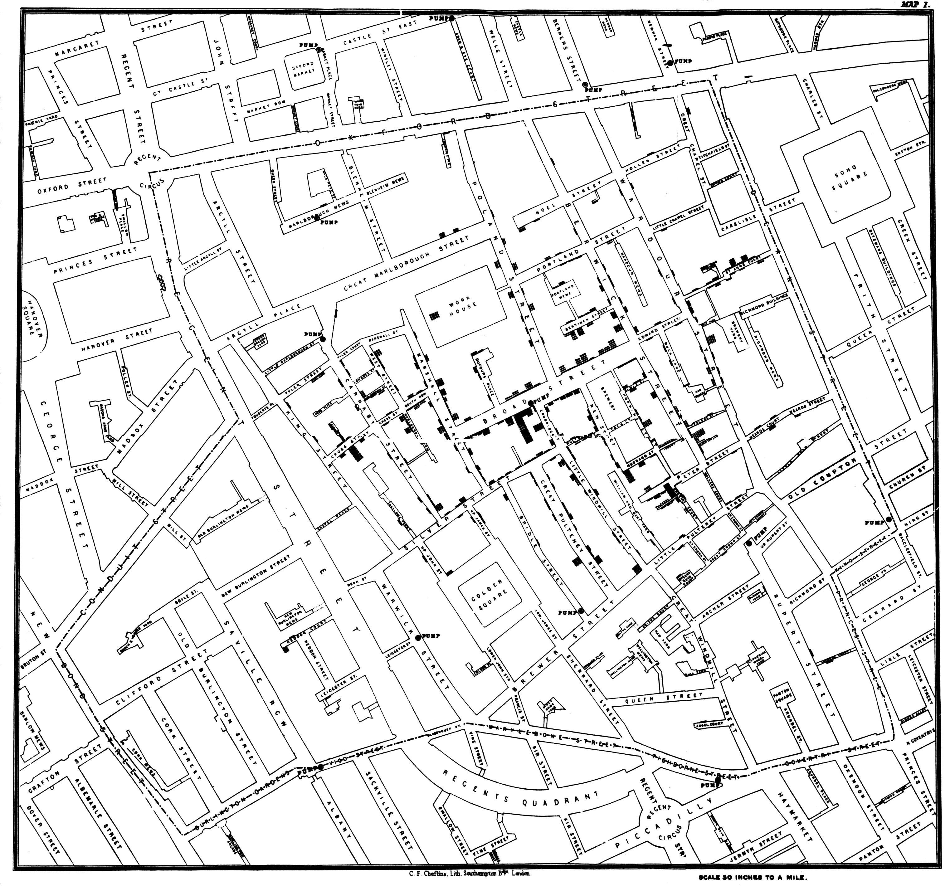 020 Research Paper Snow Cholera Map Economic Geography Wondrous Topics Full