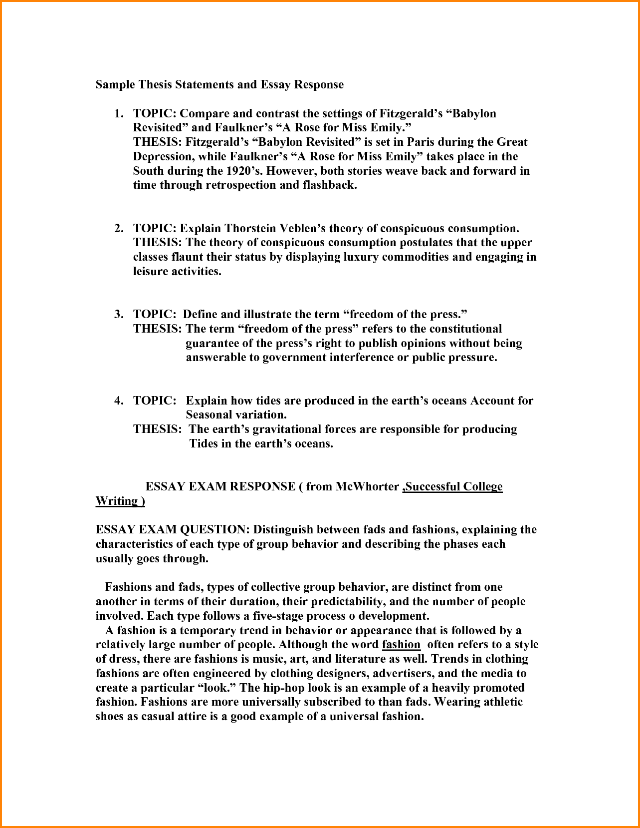 Thesis Essay Topics  English Essay Speech also What Is The Thesis In An Essay  Thesis Statement Examples For Essays Research Paper How  Research Paper Essay Example
