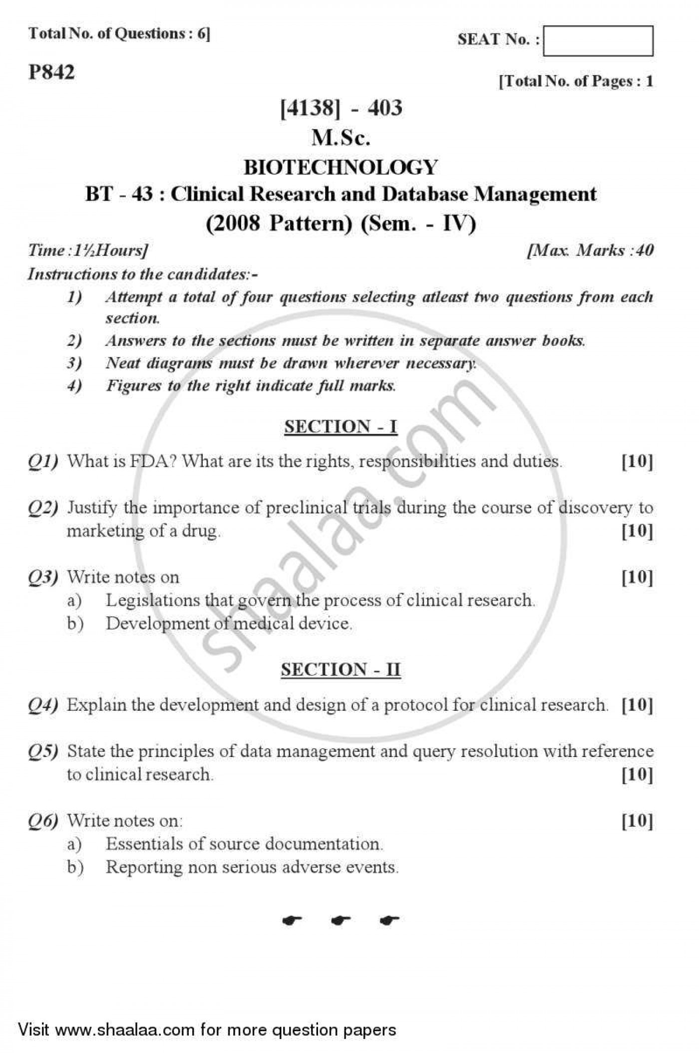 020 University Of Pune Master Msc Clinical Research Database Management Biotech Semester 2012 25b9c0e3f87cb432992c22355b1608732 Phenomenal Paper Security Design Topics Ieee 1400