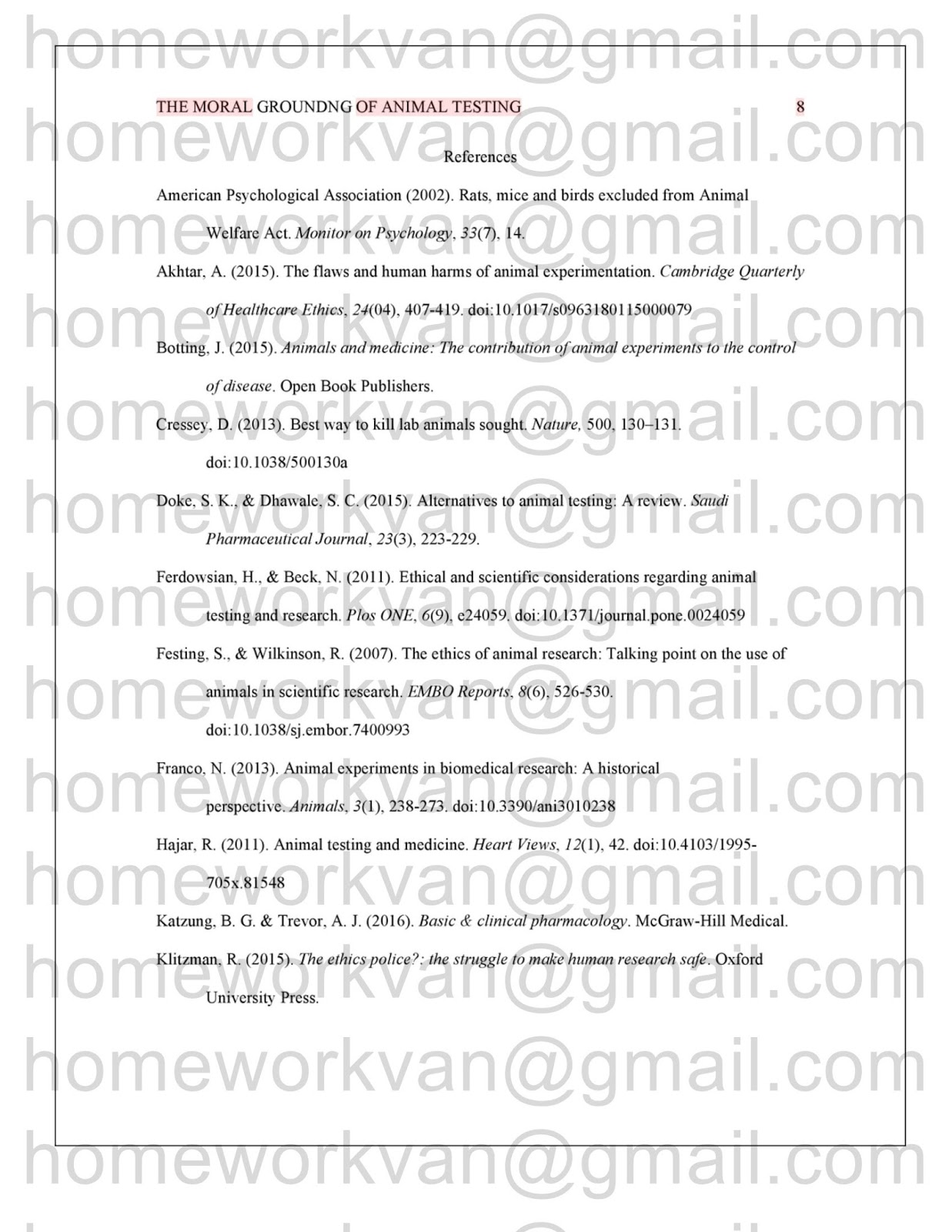 021 Animal Testing Research Paper Example Homeworkvan2bessay Archaicawful Full
