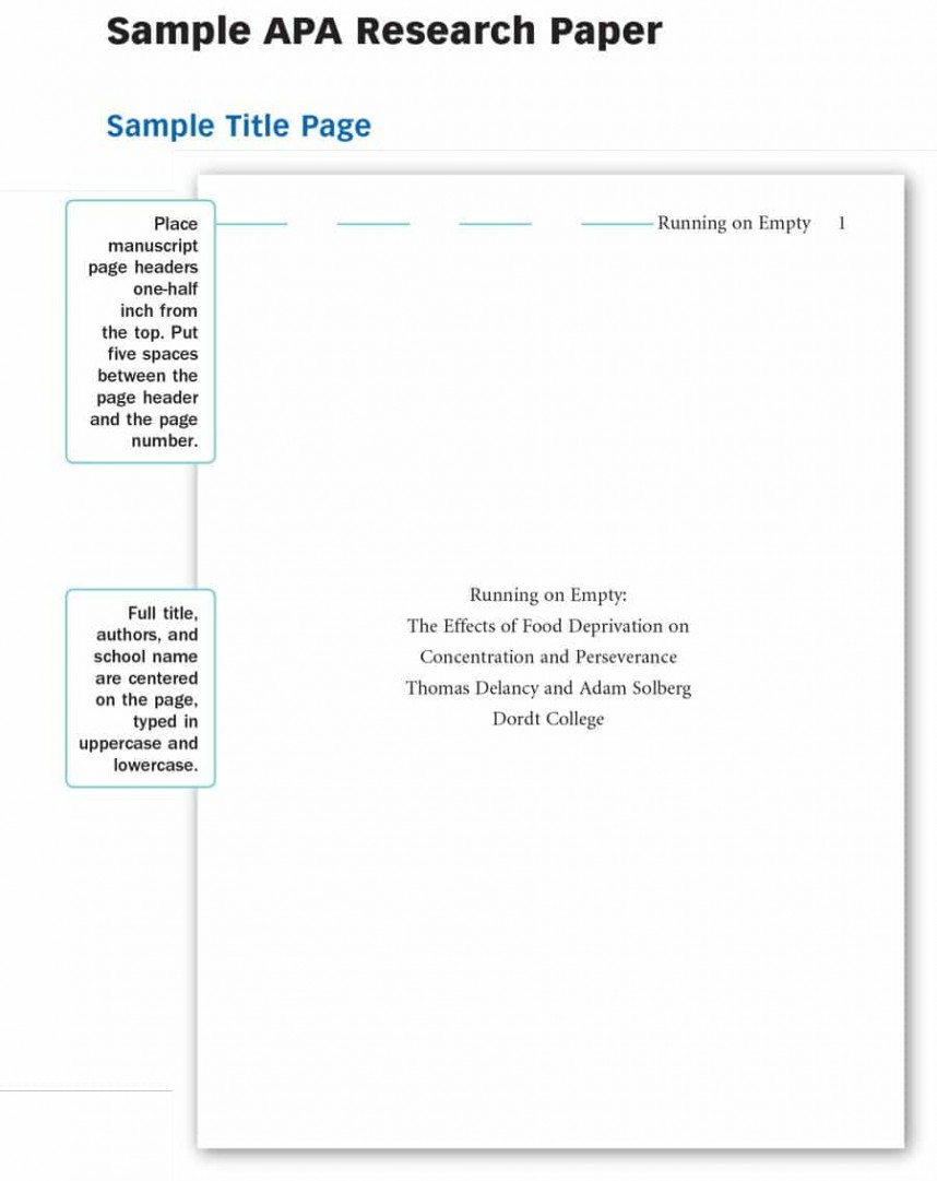 021 Ap Style Research Paper Sample Apa Template Formidable Example 6th Format Outline