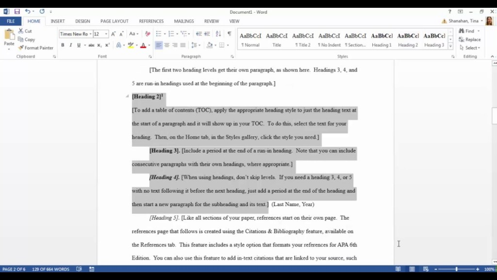 021 Apa Format Sample Research Paper Doc Awful Large