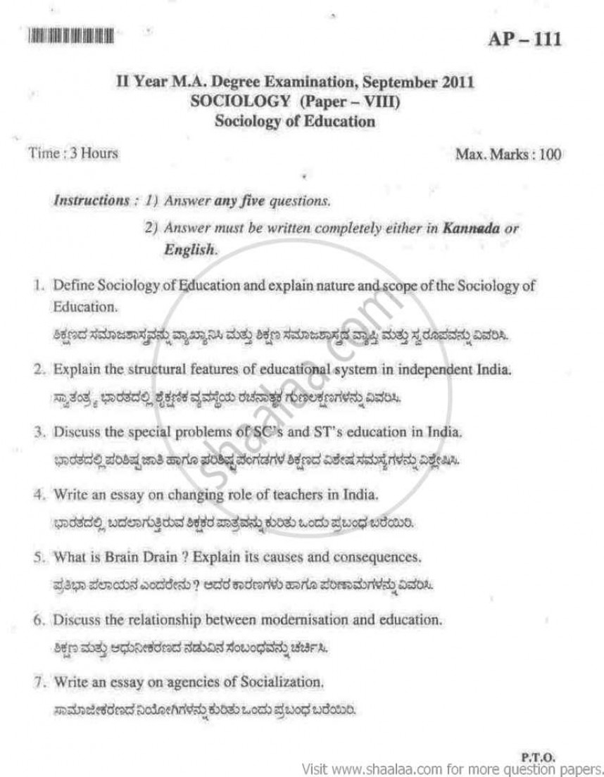 021 Excelent Sociology Essay Introductionamples Picture Inspirations India September Arts Ma Part Research Methodology Bangalore University 22147 1 Writing Paper Outstanding Example Chapter 3 Section
