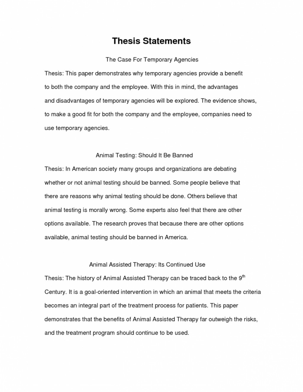Thesis Statement Essays  Business Essay Example also What Is A Thesis Statement For An Essay  Format Of Research Paper Example Essay Thesis Statement  Yellow Wallpaper Analysis Essay