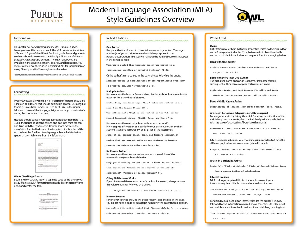 021 In Text Citation Book Mla Mlaposter09 Research Best Page Whole 8 Large