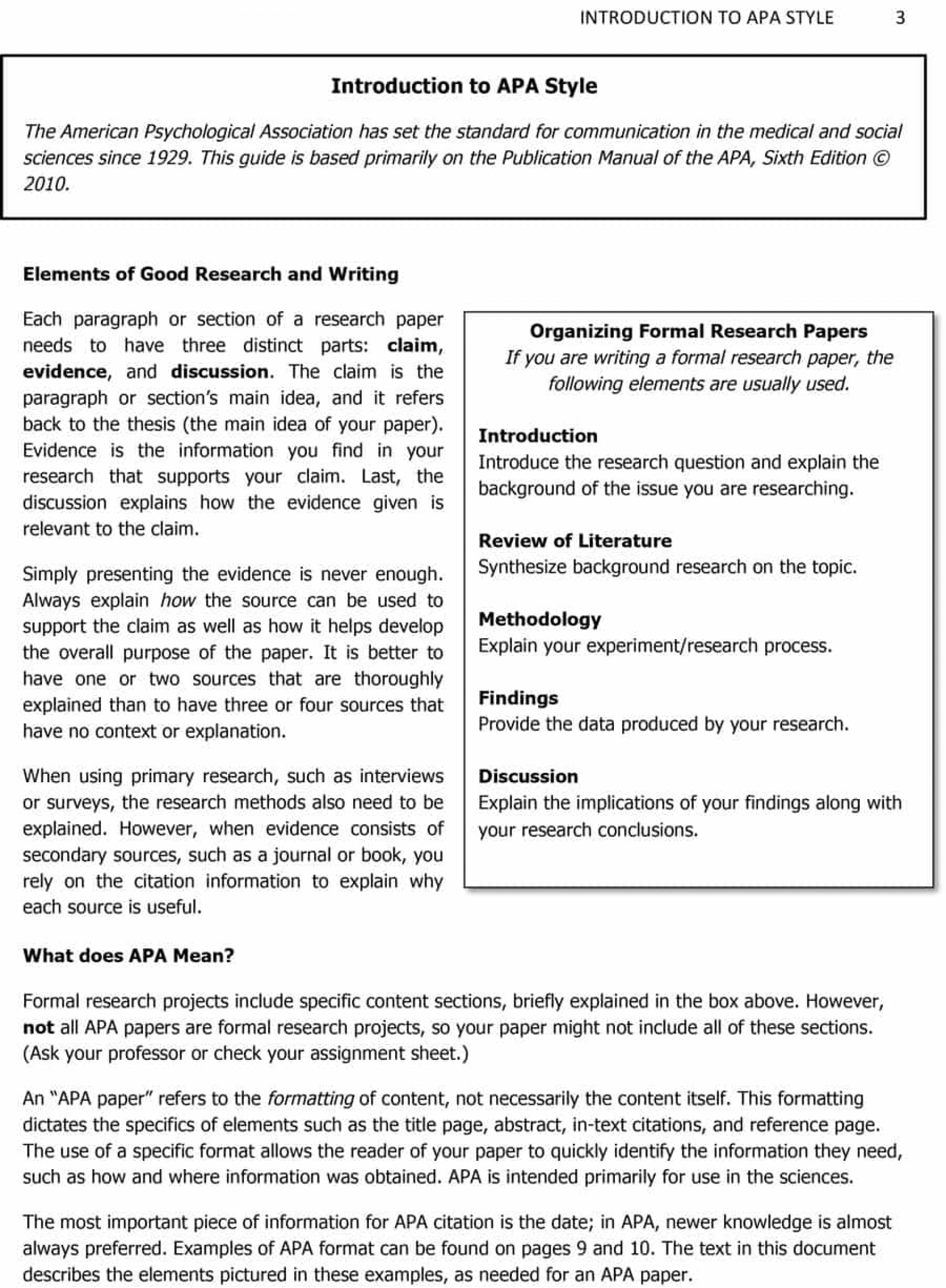 021 Introduction Of Research Paper Apa Psychology Papers Format Essay L Best A For An 1920