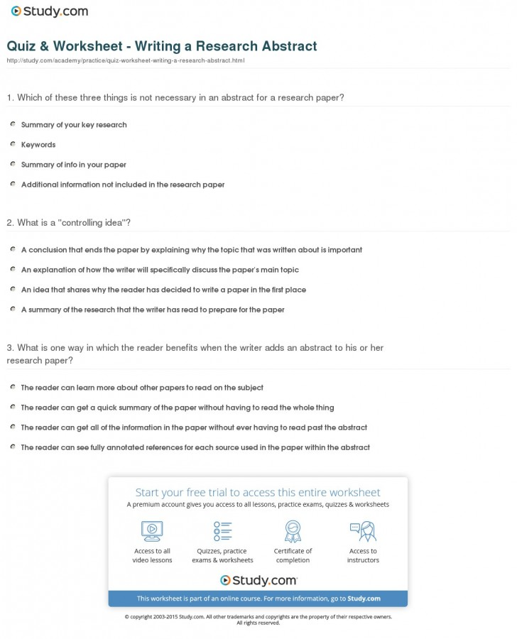 021 Quiz Worksheet Writing Research Abstract Paper Archaicawful Idea Topic Ideas For High School Students Activities History 728