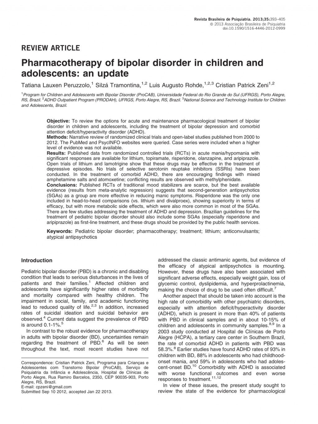 021 Research Paper Bipolar Disorder Introduction Rare Large