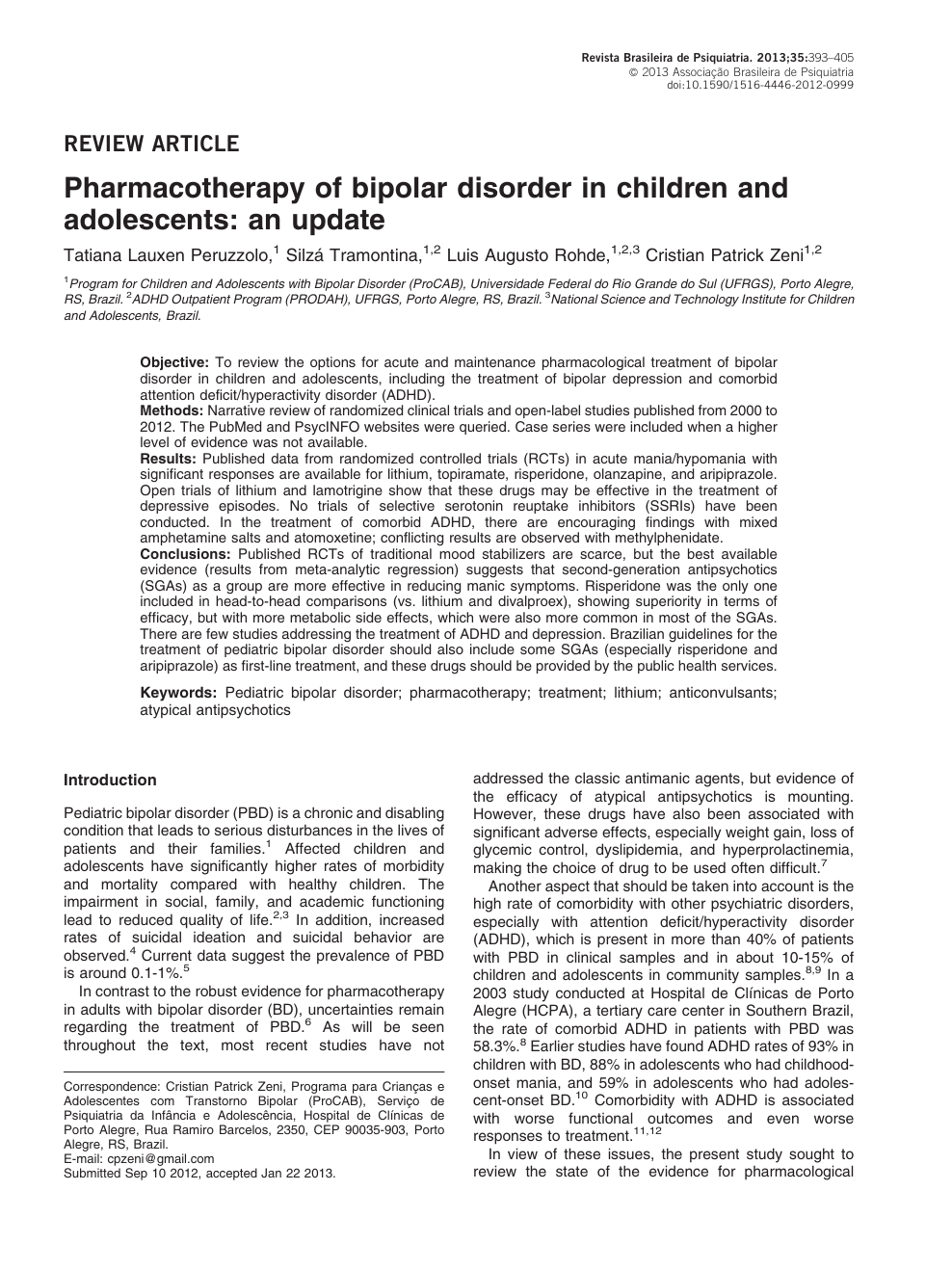 021 Research Paper Bipolar Disorder Introduction Rare Full