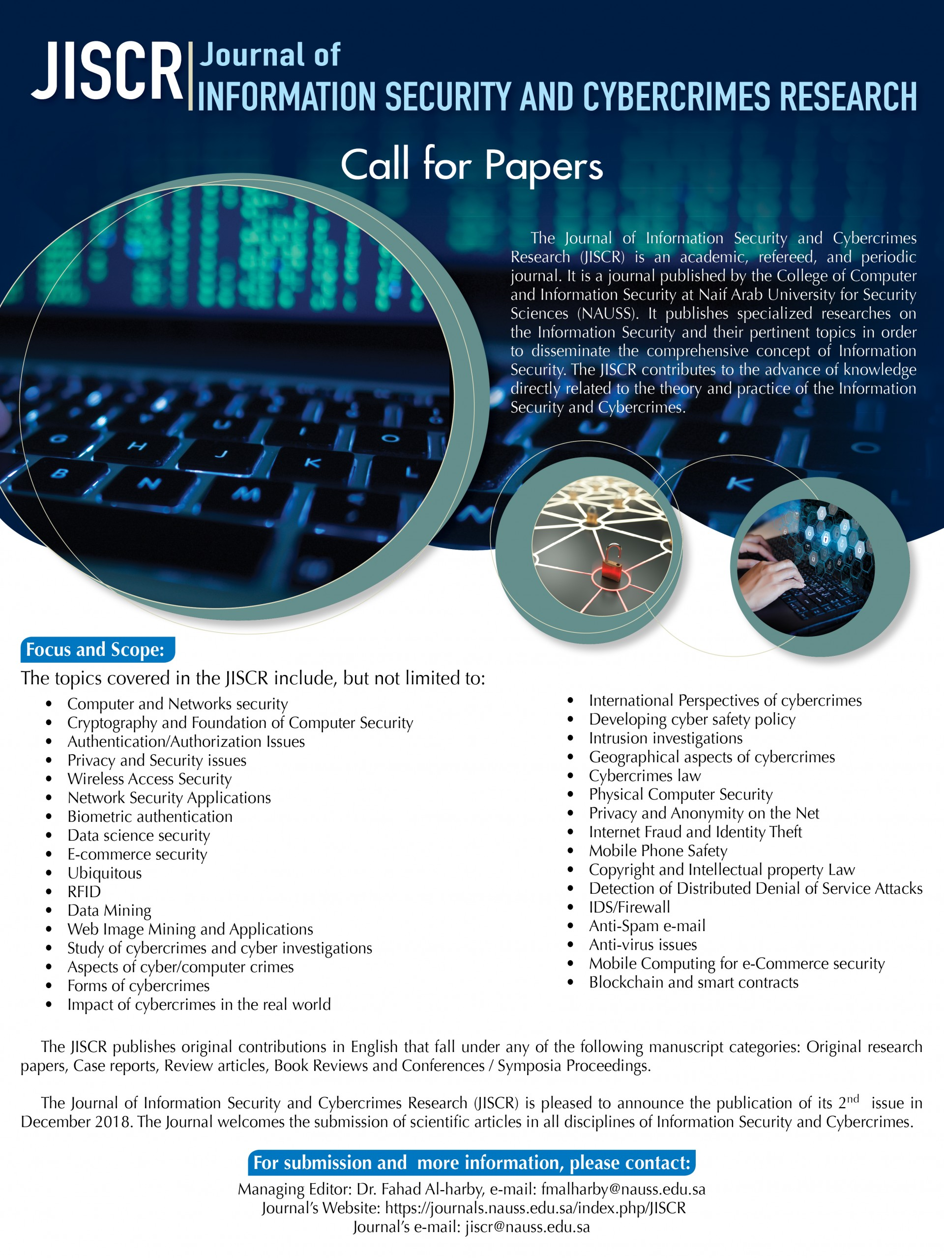 021 Research Paper Call For December Cyber Security Wondrous Papers 2018 Pdf Topics 1920