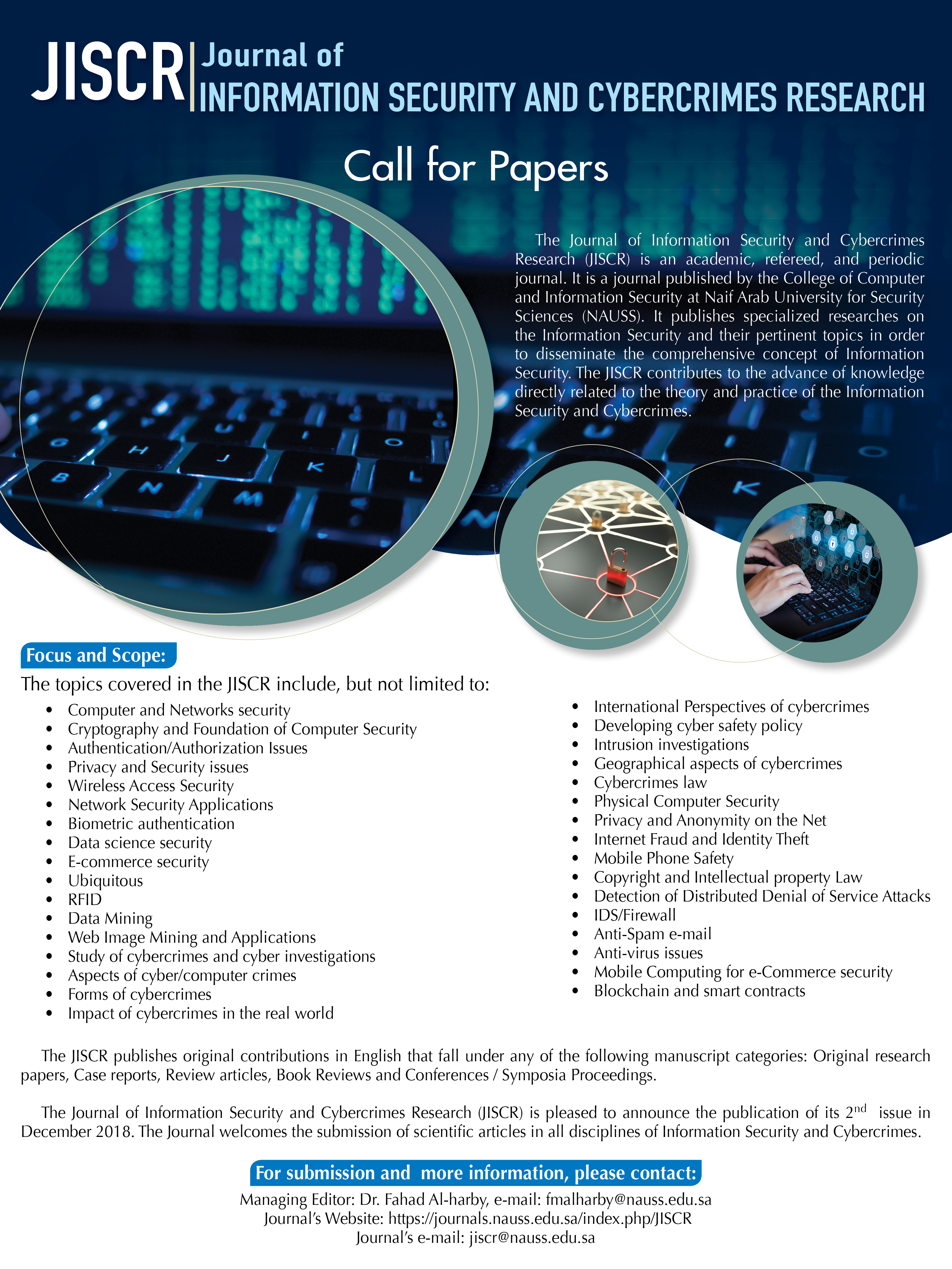 021 Research Paper Call For December Cyber Security Wondrous Papers 2018 Pdf Topics Full