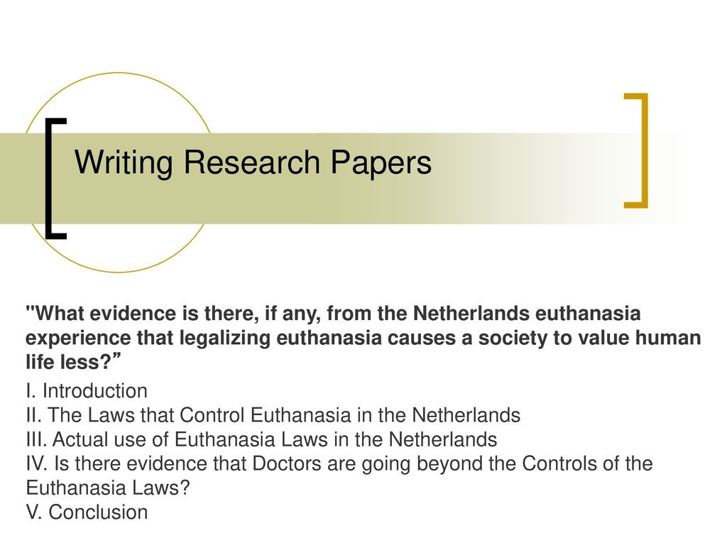 021 Research Paper Conclusion For Euthanasia Formidable Large