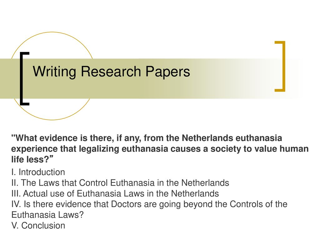 021 Research Paper Conclusion For Euthanasia Formidable Full
