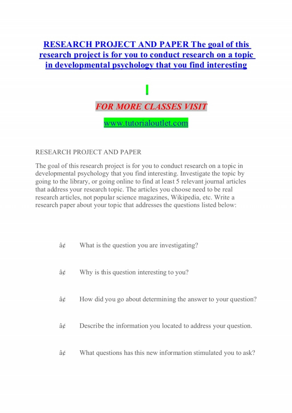021 Research Paper Developmental Psychology Topics For Researchprojectandpaperthegoalofthisresearchprojectisforyoutoconductresearchonatopicindevelopmentalp Thumbnail Dreaded Potential Large