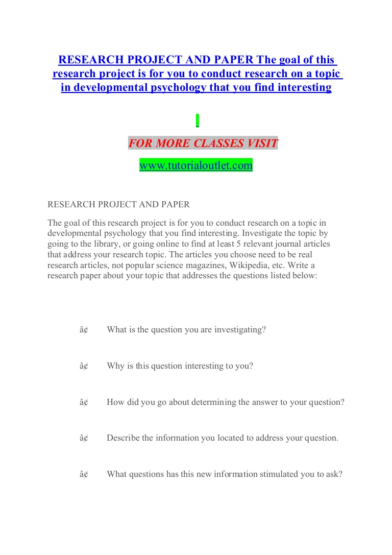 021 Research Paper Developmental Psychology Topics For Researchprojectandpaperthegoalofthisresearchprojectisforyoutoconductresearchonatopicindevelopmentalp Thumbnail Dreaded Potential Full